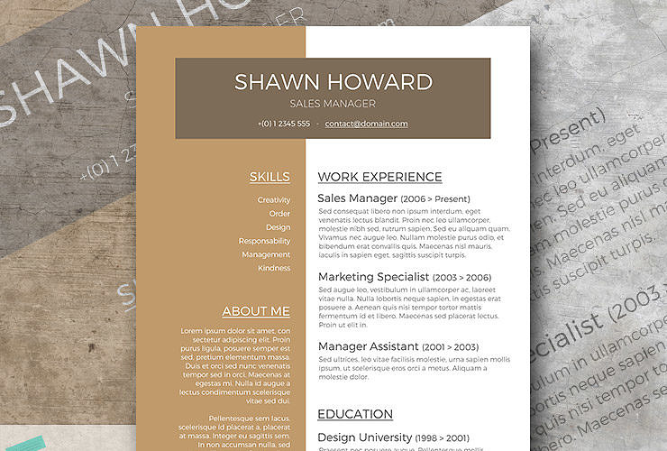 Café Au Lait | A Free Resume Template With A Creative Touch