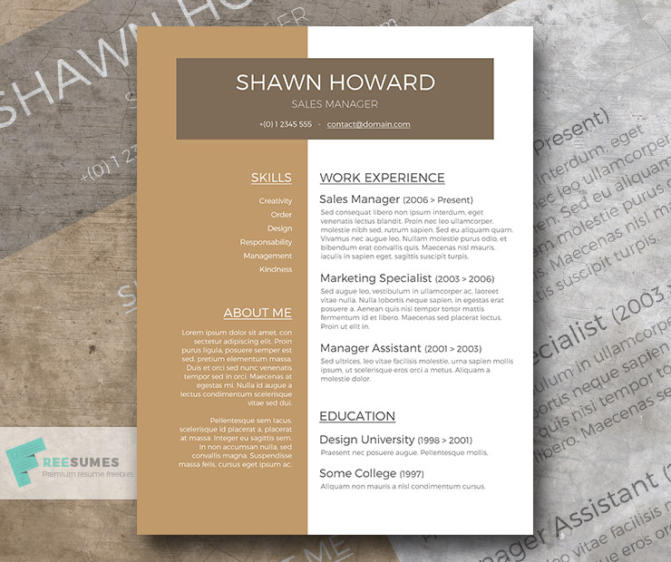 caf au lait a free resume template with a creative touch - Resume Template Au