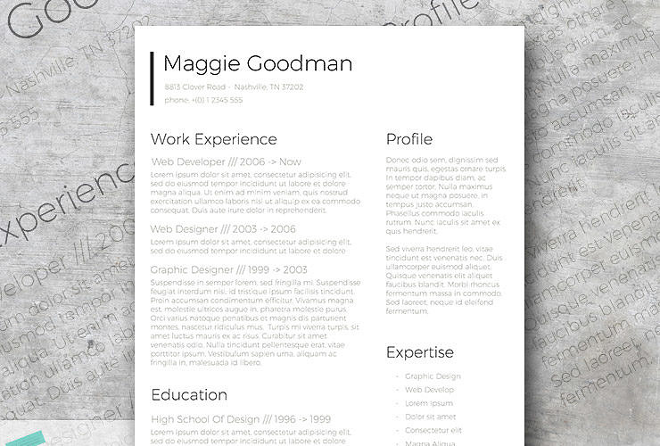 free classic and sleek resume template - Classic Resume Template