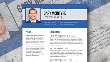 Good Free Blue Denim Resume Template  Fancy Resume