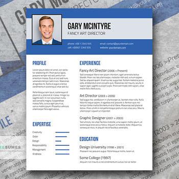 blue denim resume template