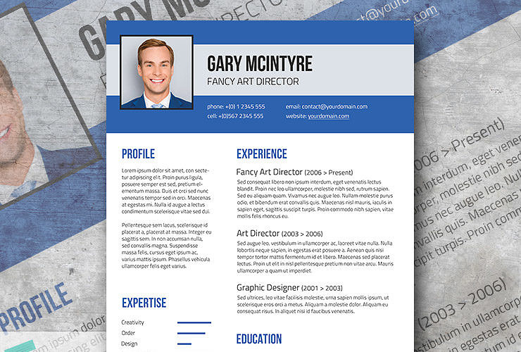 Attractive Free Blue Denim Resume Template Within Fancy Resume