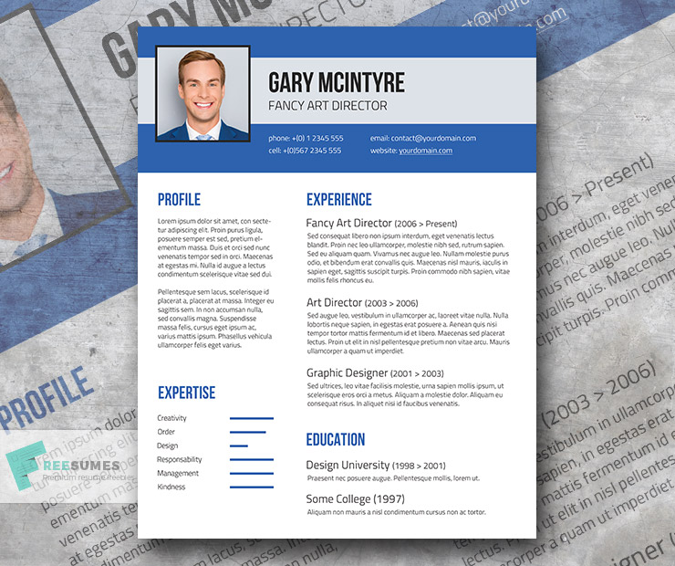 blue denim resume template