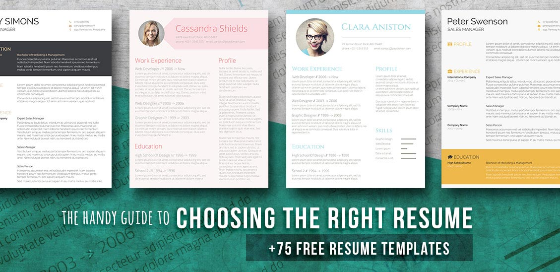 resume templates for word - Download Free Resume Templates For Word