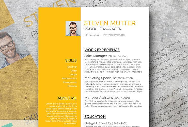 amber resume design