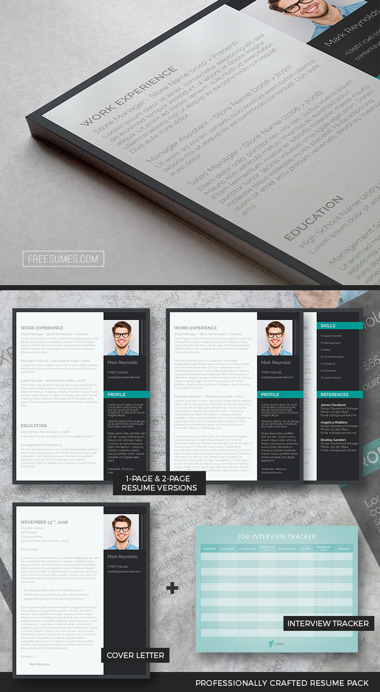 modern and professional resume pack
