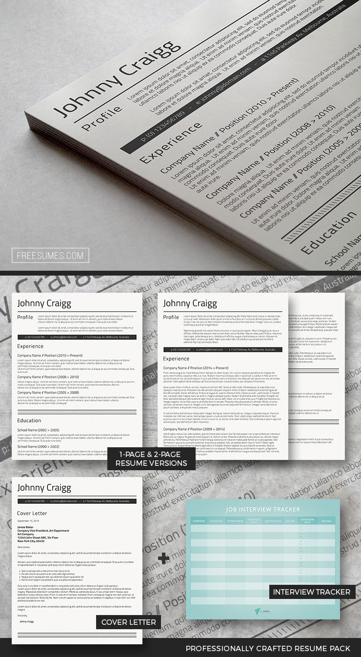 professional resume template set shades of black