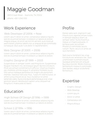 Classic And Sleek Resume Design