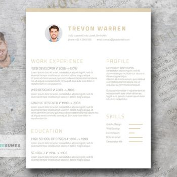 clean resume template for word