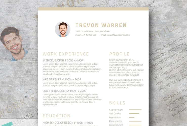 Free Clean Resume Template For Word U2013 Champagne U0026 Wine