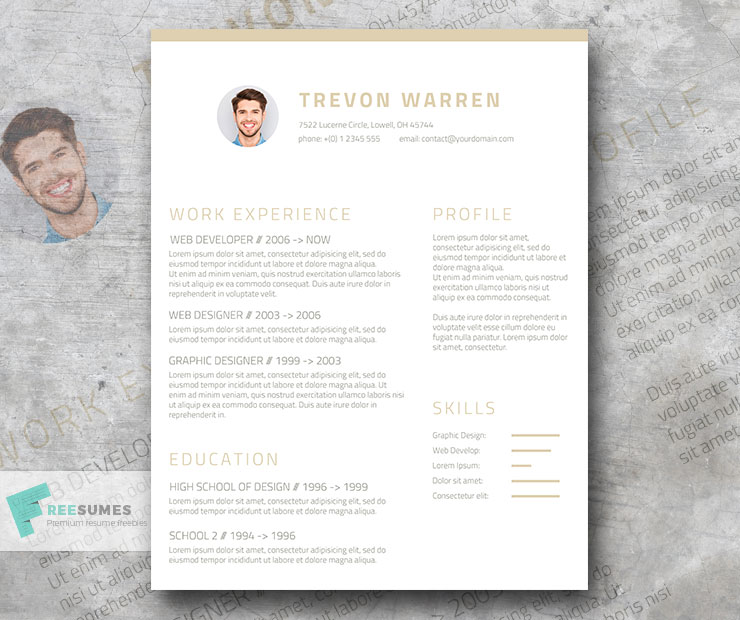 Free Clean Resume Template For Word Champagne Wine