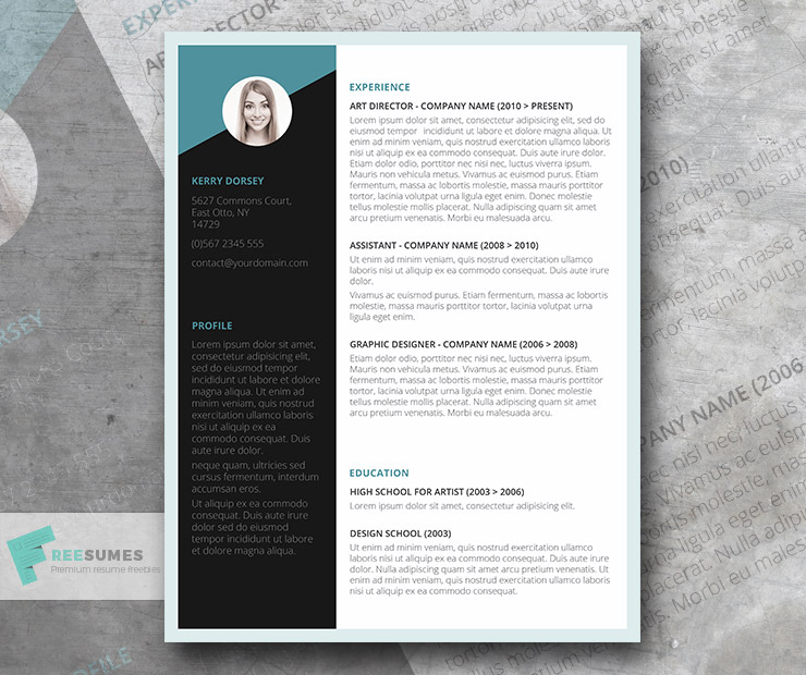 free job winning resume template instant download - Free Job Resume Template