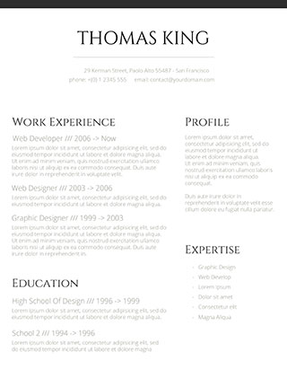 Professional Clean Resume  Resume With Photo Template