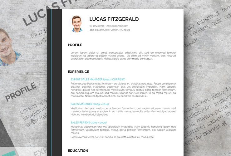 Free modern resume templates free perfect resume template for go getters thecheapjerseys Image collections