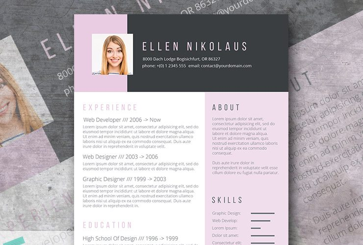 A Free Creative Resume Template  Free Creative Resume Templates