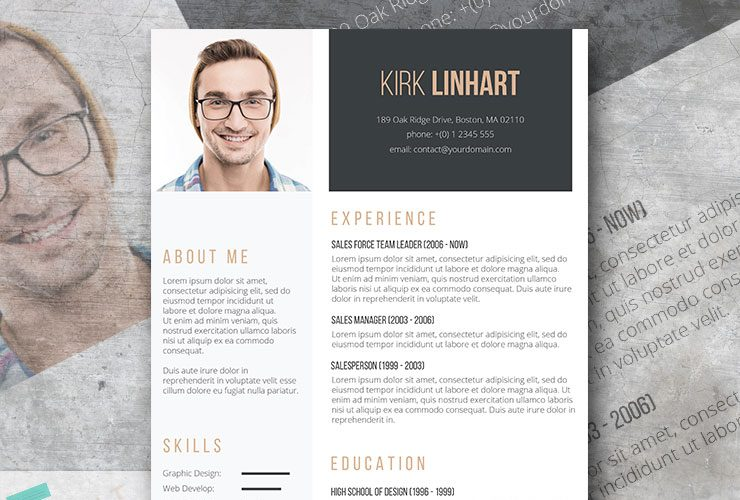 clean headshot professional resume