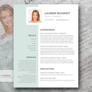 light grayish green resume template