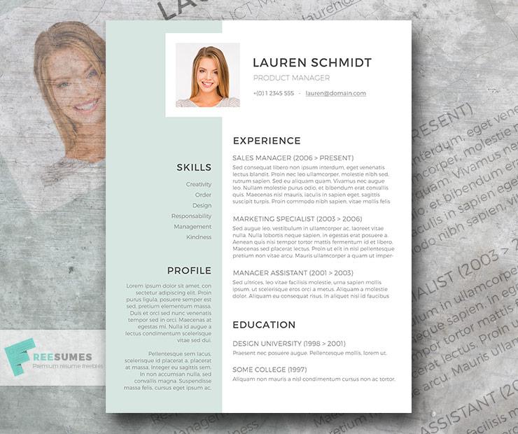 light grayish green resume template