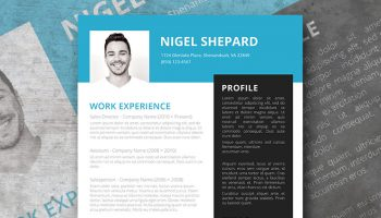 bright sky resume template