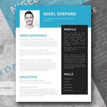 bright sky resume template