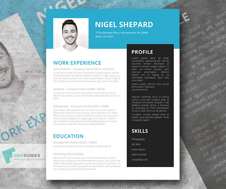 Bright Sky | Free Creative Resume Template - Freesumes
