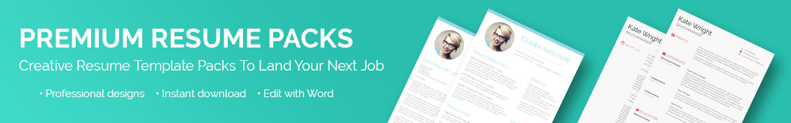 Creative Resume Template Packs To Land Your Next Job  FreesumesCom