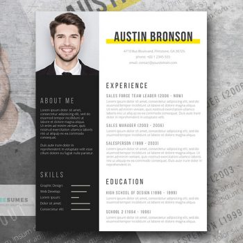 fill in resume design