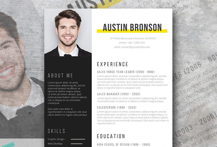 contrast the free fill in the blank resume design - Modern Resumes