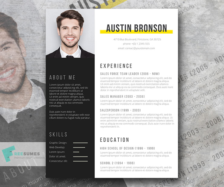 fill in resume design