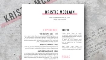 crisp and clean resume design