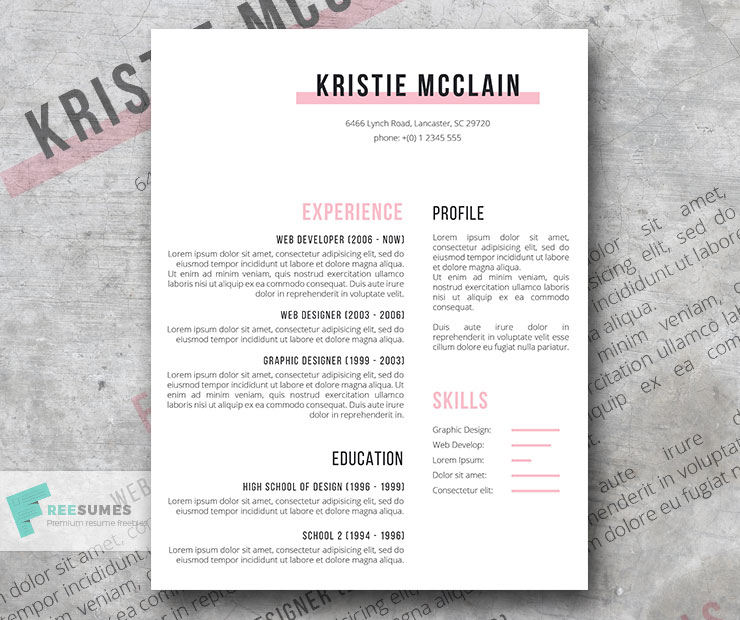 Elegant Resume Template Freebie