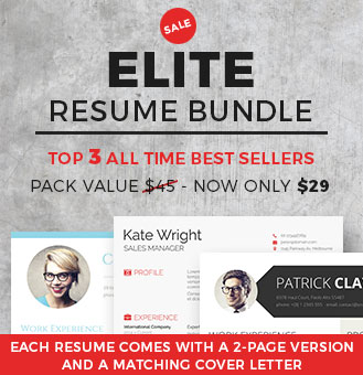 elite resume template bundle