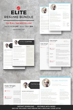elite resume templates bundle