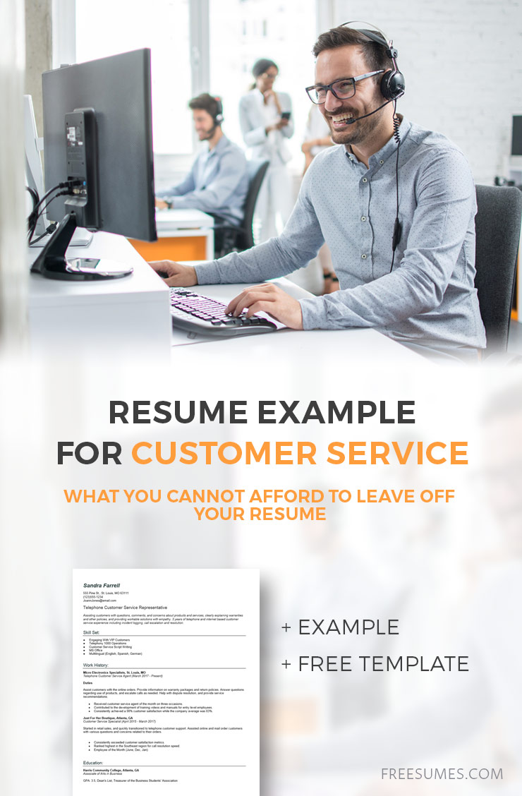sample customer-service-resume