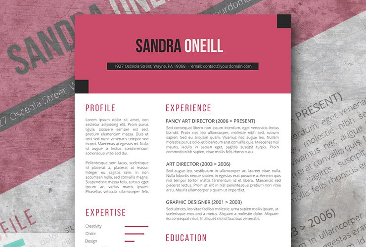 Free modern resume templates spice up your resume with cabaret the free resume template thecheapjerseys