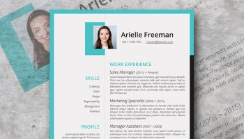 colors and shapes resume design
