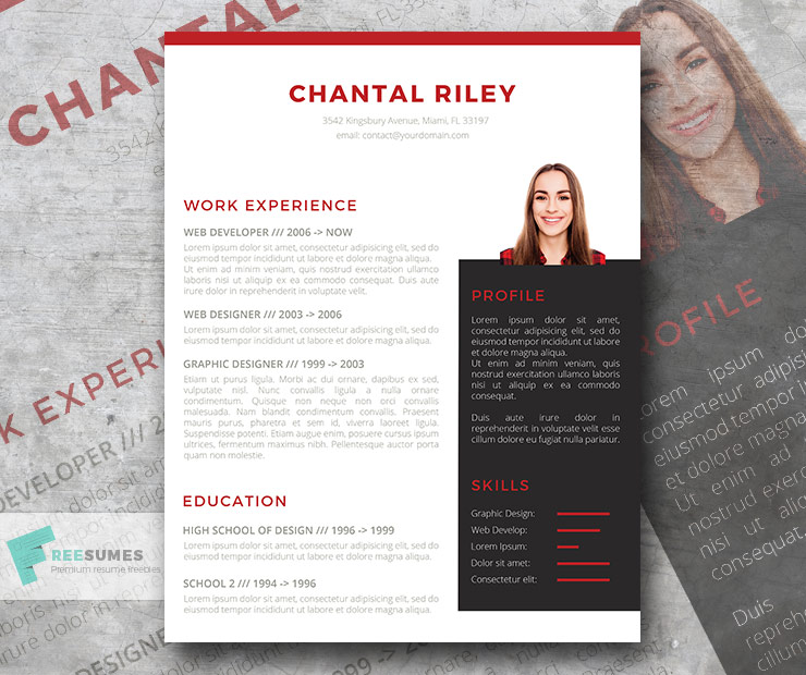 I Stand Out Resume Template Freebie Freesumescom