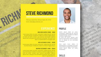 sunny valley resume template