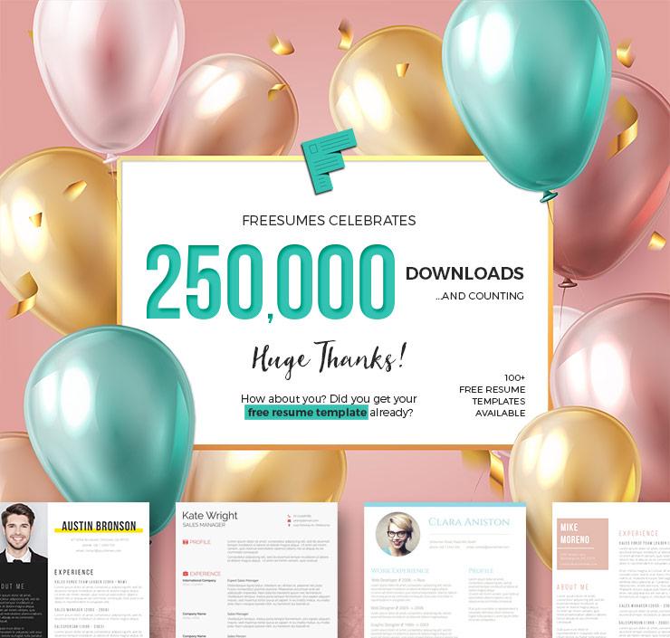 250k resume templates downloaded
