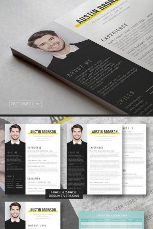 contrast resume template pack