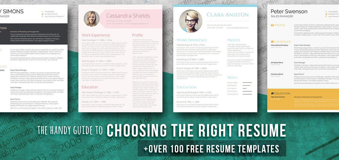 free resume templates for word - Graphic Resume Templates Free