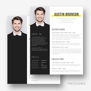 resume template contrast