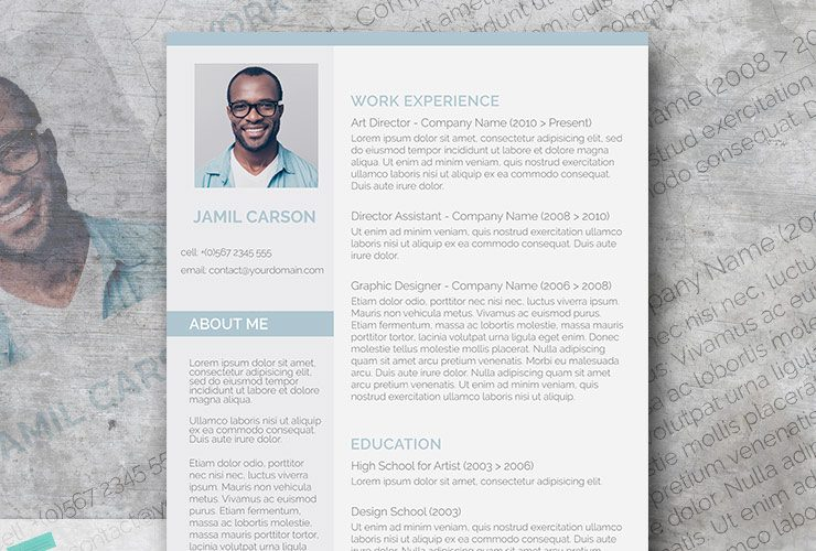 spring mist resume template