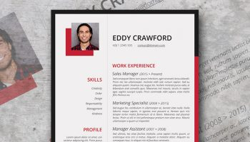 cardinal red resume template