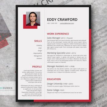 cardinal red resume template