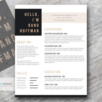 hello resume template