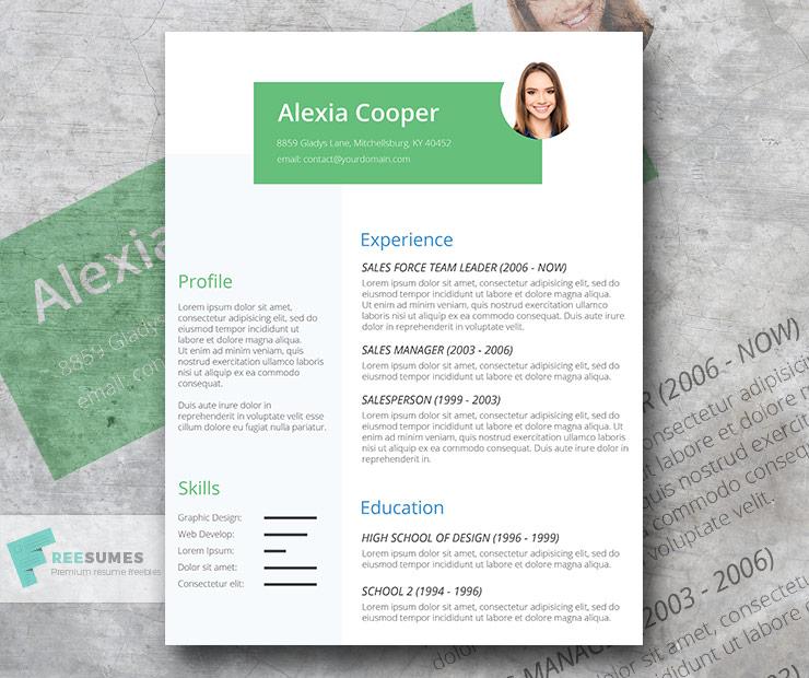 oxygen resume template