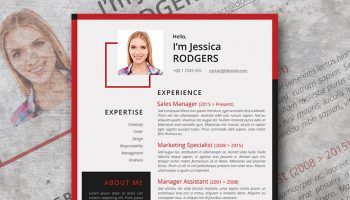 chili pepper resume design
