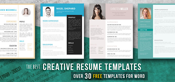 Creative Resume Templates: Get The Job You Deserve! - Freesumes