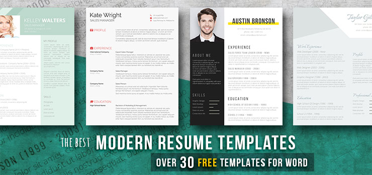Modern resume templates 35 free examples freesumes free modern resume templates for word maxwellsz